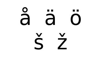 Finnish alphabet additional characters