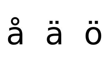 Swedish alphabet additional characters