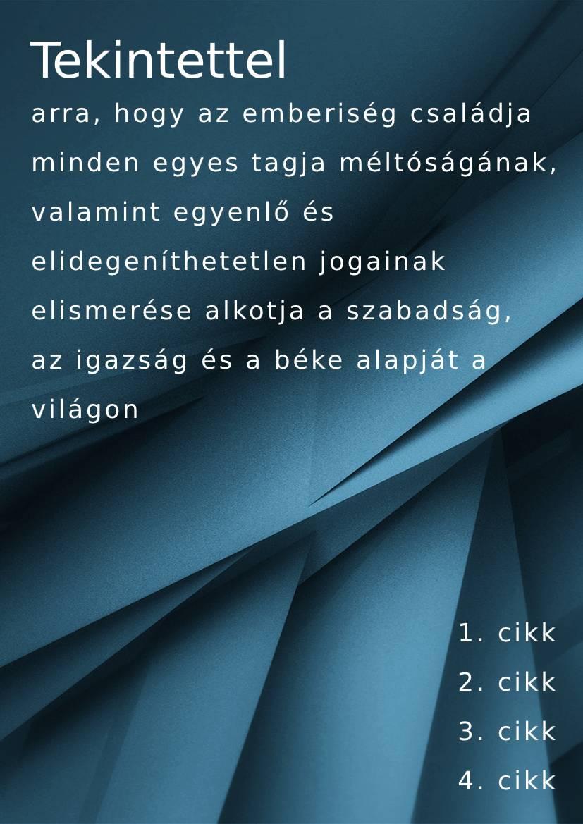 Hungarian handbook example