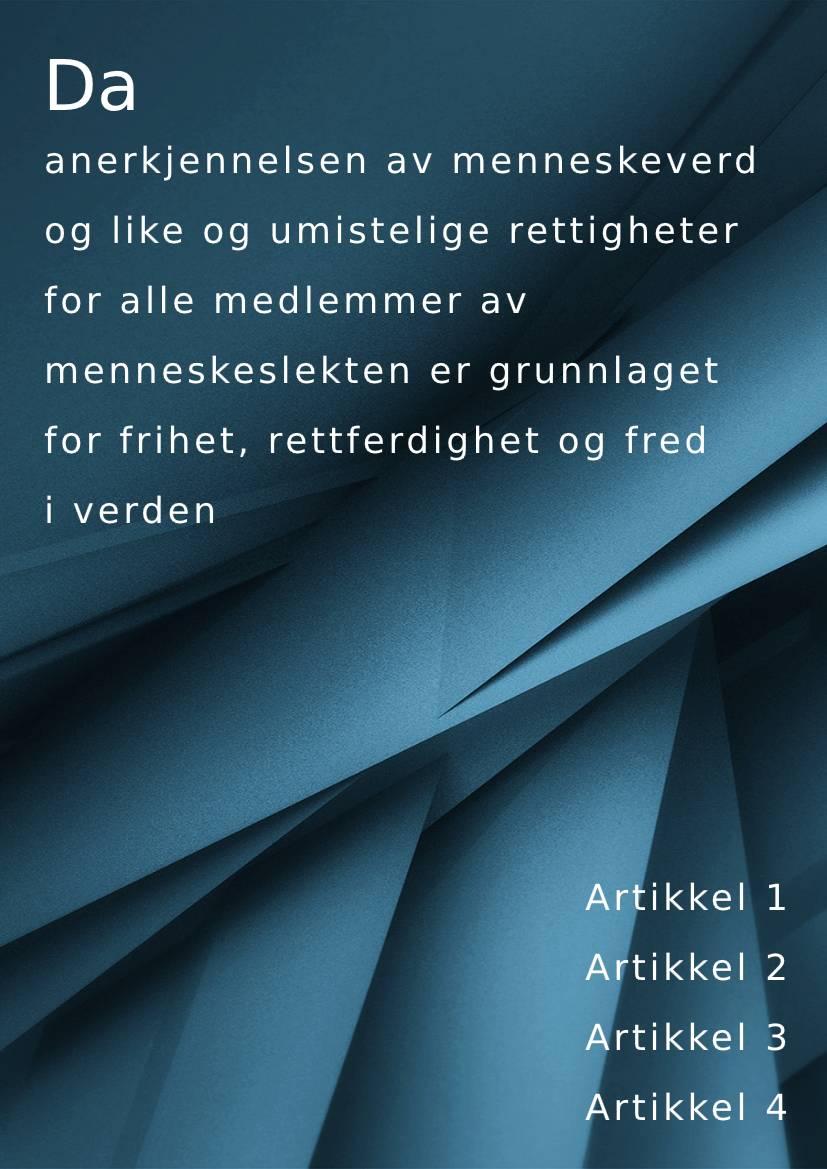 Norwegian handbook example in Bokmål
