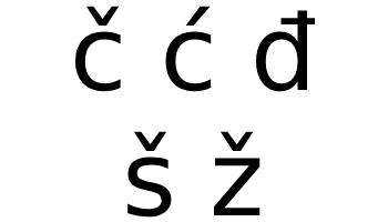 Slovene alphabet additional characters