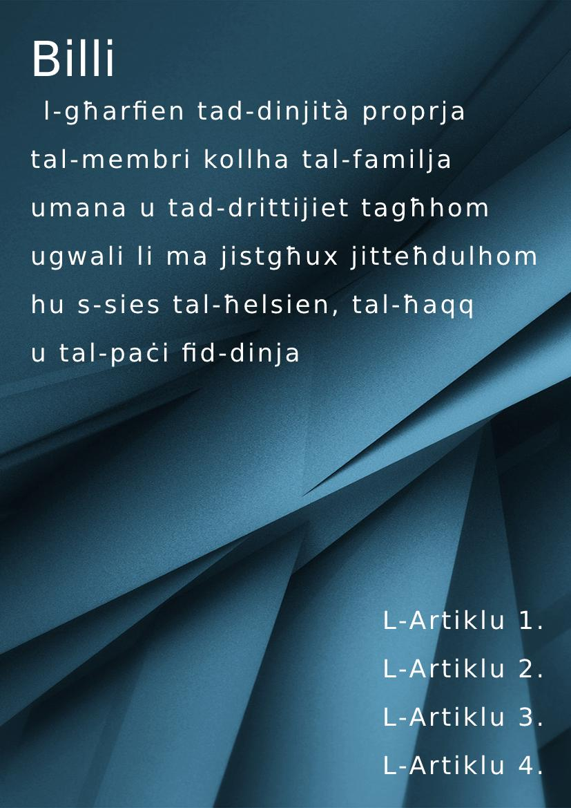 Maltese handbook example