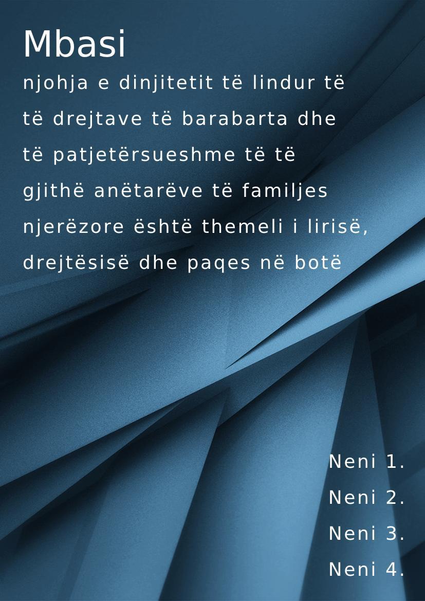 Albanian handbook example